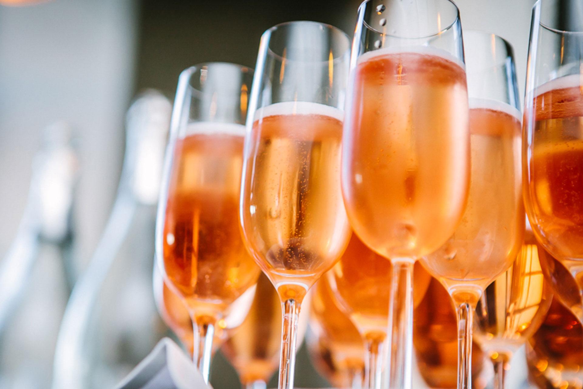 Prosecco aperitief voor bruiloften, recepties, feesten en meer