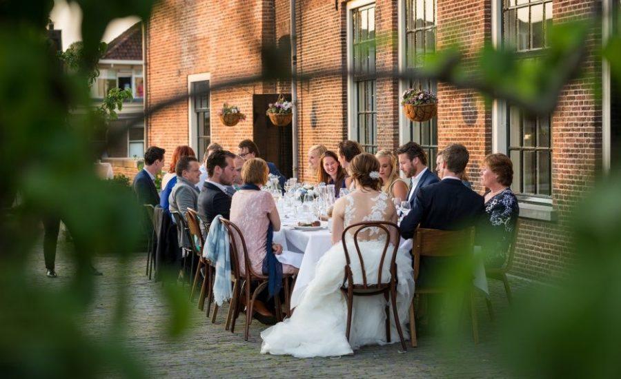 bruiloft diner trouwen terras WoerdenTrouwlocatie trouwzaal huwelijksfeest huwelijkslocatie feestlocatie kasteel woerden