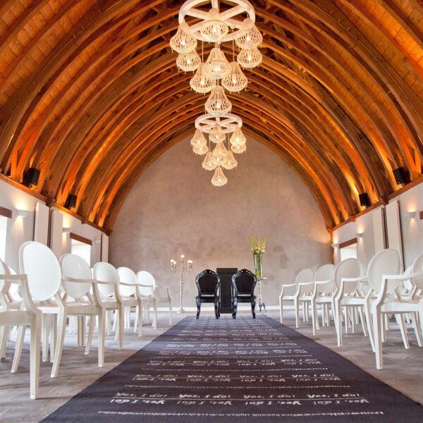 Ridderzaal in ceremonie opstelling voor bruiloften