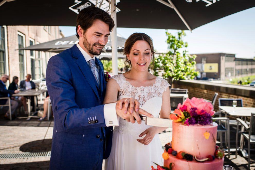 bruidstaart serviesgeld toost champagne kasteel woerden feliciteren in groene hart van randstad proost regio Utrecht