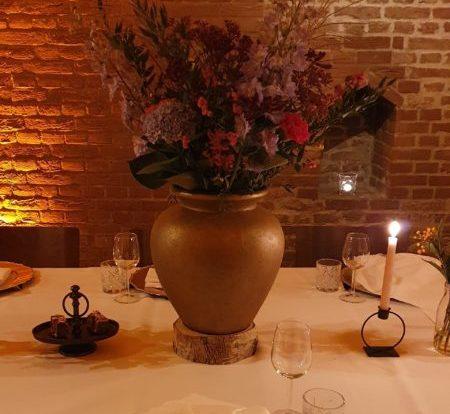 tafel decoratie thema kleuren styling blush and colours partner Kasteel Woerden